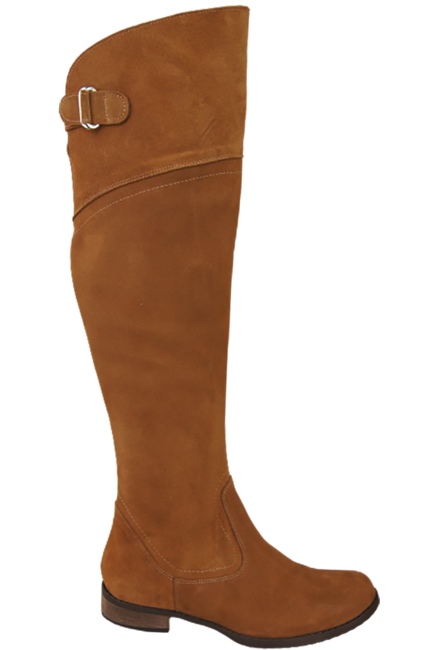 Shoes Boots Women Boots Over-the-knee boots Over-the-knee natural leather Velor 154 ElitaBut